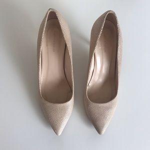 Rebecca Taylor Cream Nude Italian Made Pump Heels